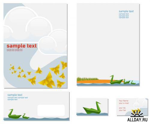 Colorful business template - vector