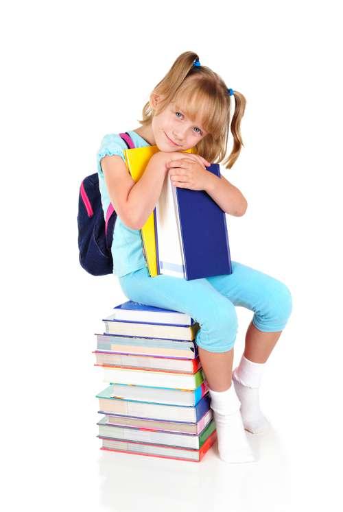 Школьники с учебниками - Растровый клипарт | Schoolchild with books - UHQ Stock Photo