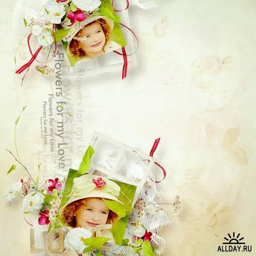 Scrap kit   Flowers For My Love