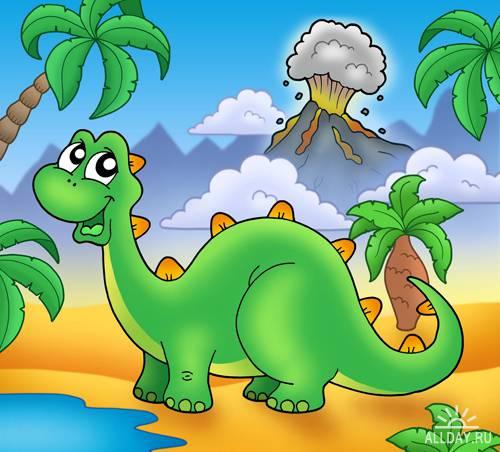 Cartoon Dinosoures - UHQ Stock Photo   Мультяшные динозавры
