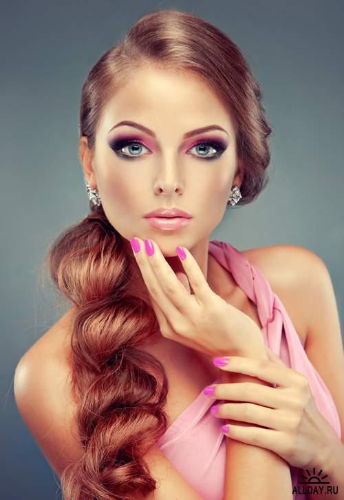 стильная прическа и макияж