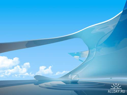 Stock Photo: Futuristic interior | Футуристический интерьер