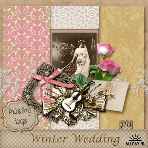 """Несколько мини скрап-наборов """"Winter Wedding"""""""