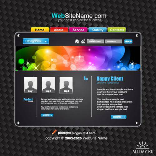 Web design navigation menu - vector