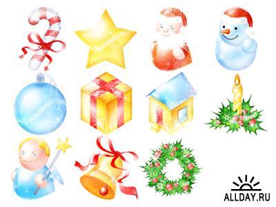 Сборник иконок на тему рождества