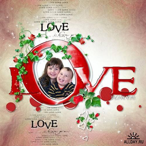 Скрап-набор Любовь. Love