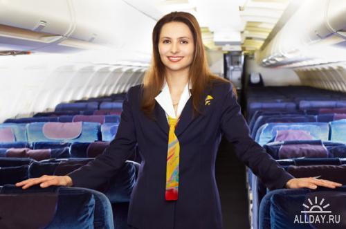 Stewardess on board | Стюардессы на борту