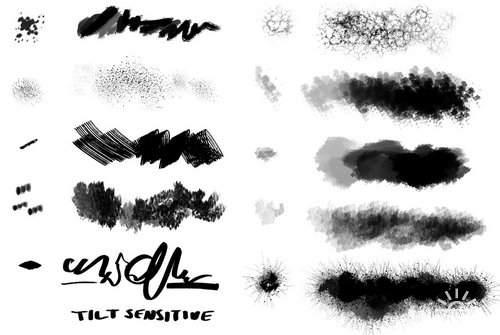 Brushes by Hawk4 | Набор кистей - огонь, кожа
