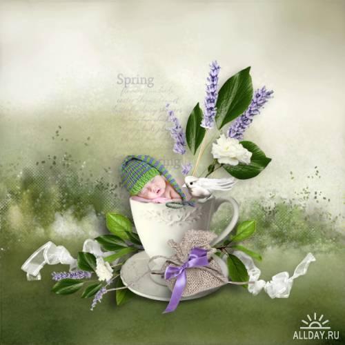 Мини скрап-набор - Flight of scents (addon)