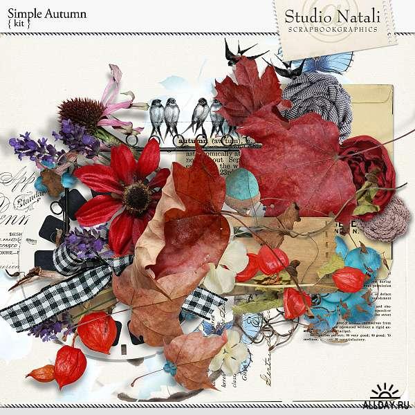 Scrap set - Simple autumn