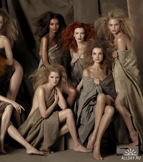 The Faces of The Moment... Фотограф Steven Meisel (2009)