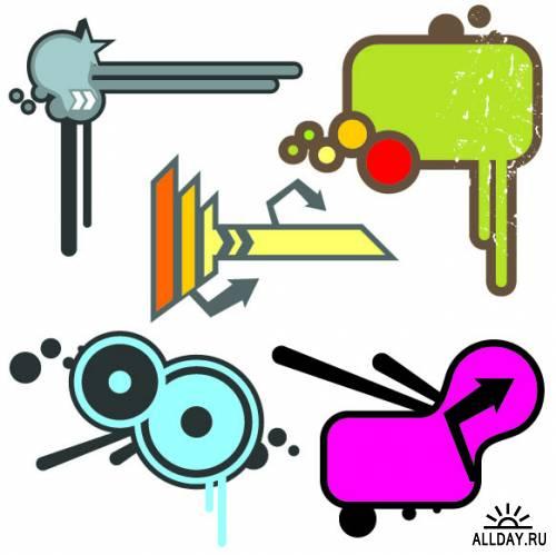 Дизайнерские элементы в векторе