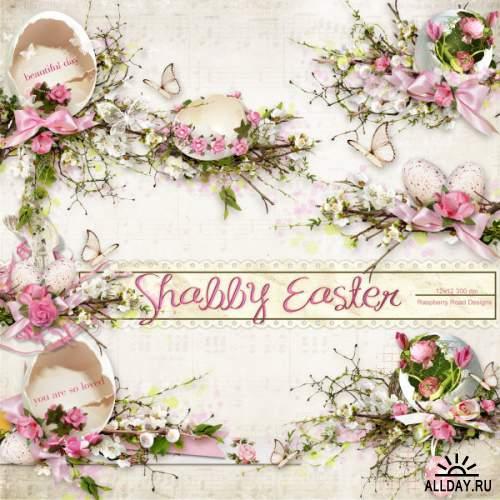 Скрап-набор Shabby Easter