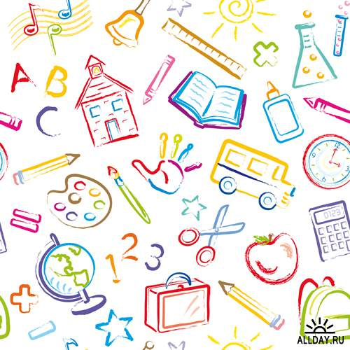 Школьные рисунки 2 - Векторный клипарт | School draw 2 - Stock Vectors