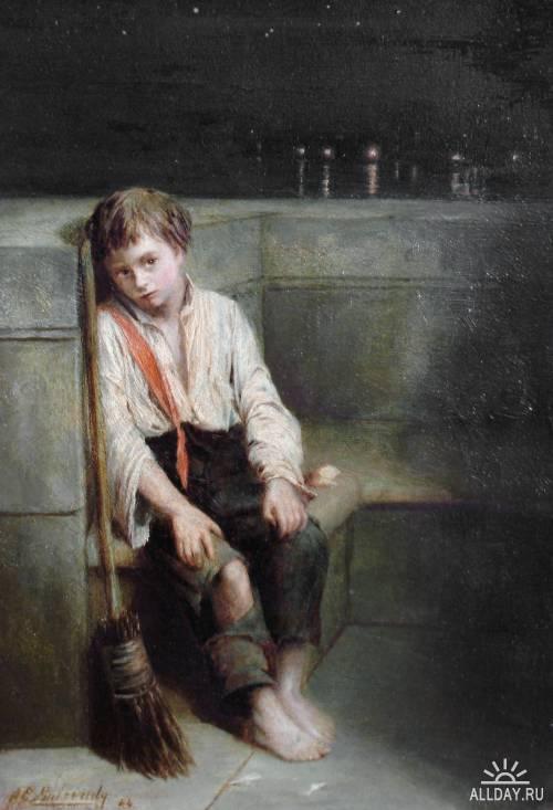 Английский художник Augustus Edwin Mulready (1844-1904)