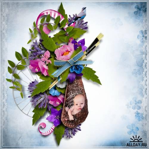 Скрап-набор - Instant Fleuri