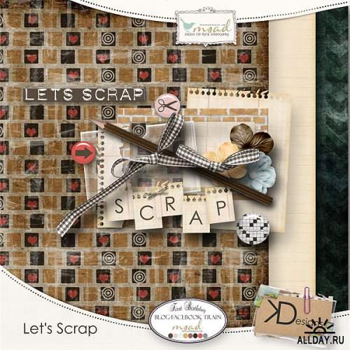 Мега скрап-набор Let`s scrap (8 частей)