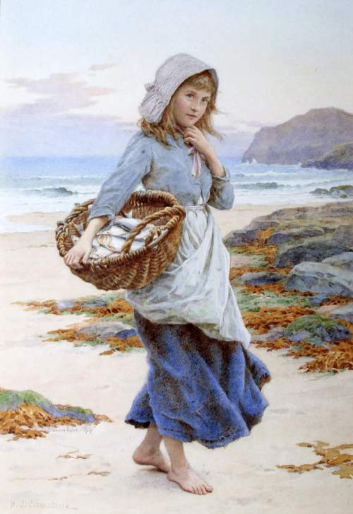Английский художник Henry James Johnstone (British, 1835-1907)