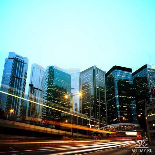Night City Lights / Огни ночного города, трафика (высокое разрешение)