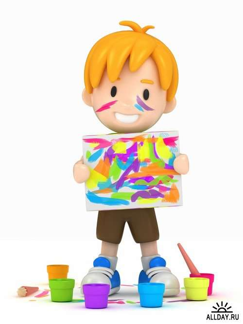 3D render funny kids Stock images - 25 HQ Jpg