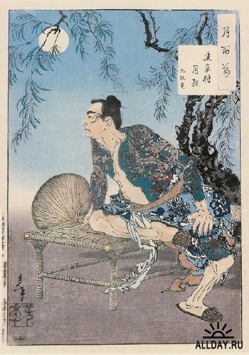 Цукиока Ёситоси. Гравюры укиё-э на разные темы (сборка №2)