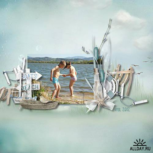 Scrap kit  Walkon the Beach