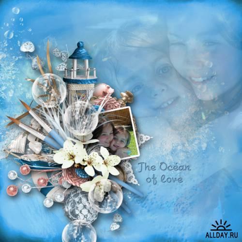 Scrap kit The Ocean of Love