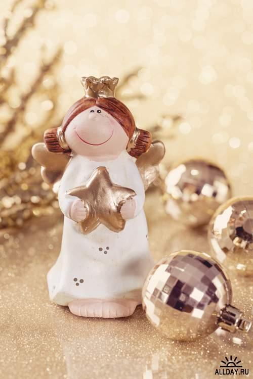 Новогодние украшения - Растровый клипарт | Christmas Elements - UHQ Stock Photo