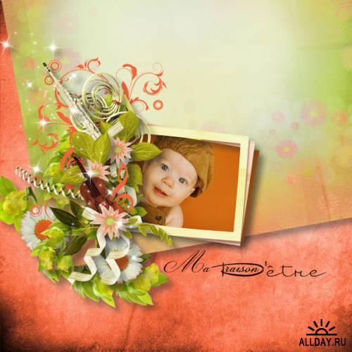 Скрап-набор - Musical flowers
