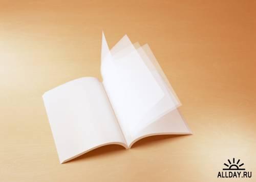 Бумага, чистые книги, стикеры