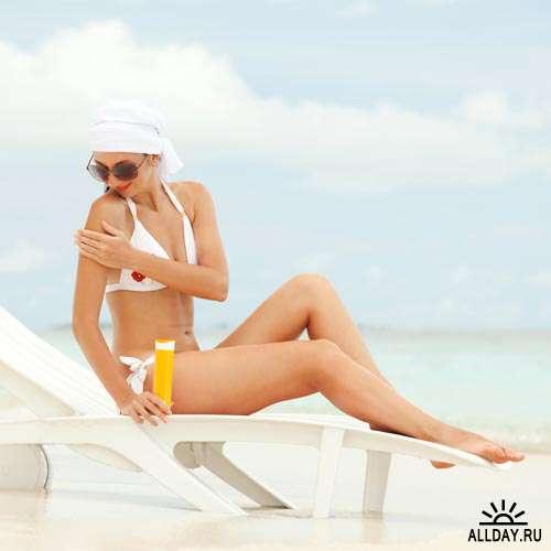 Лето. Солнце. Пляж #1 - Растровый клипарт