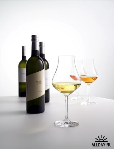 Фотоклипарт - Вино, бокалы с вином