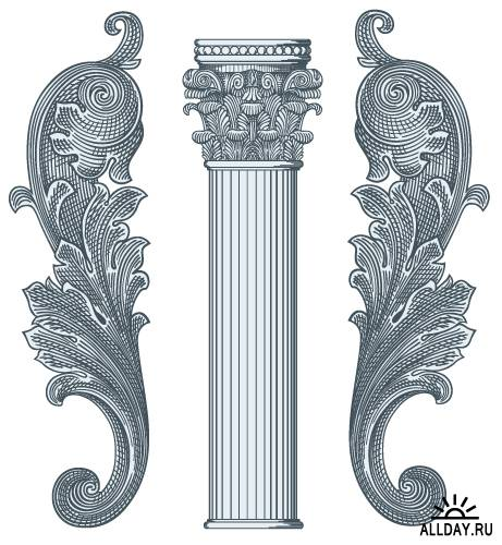 Античная архитектура в векторе