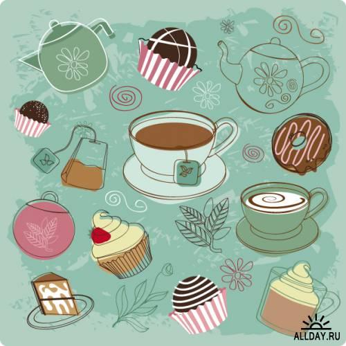 Grunge dessert background