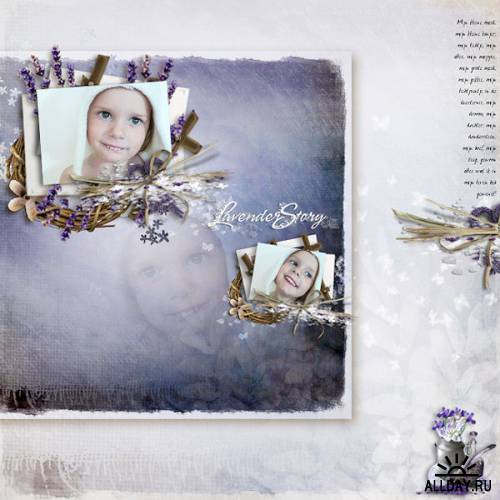 Scrap kit   Lavender Story
