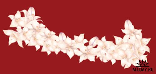 Bunches of Flowers  Vector