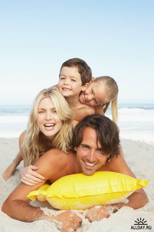 Photostock - Family Beach Fun
