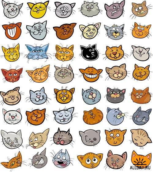 Чудесные котята #3 - Векторный клипарт