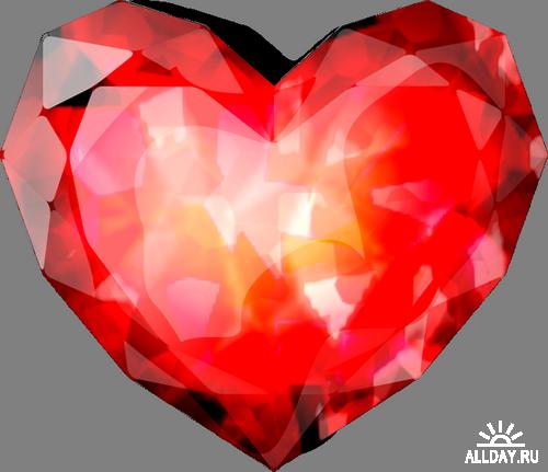 Red Jewels Stones Красные ювалирные камушки  png