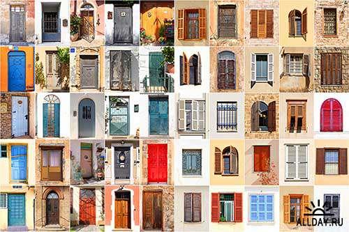 Растровый клипарт - Двери