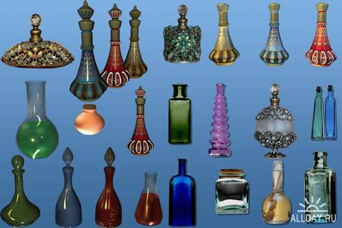Magic bottles - клипарт PNG