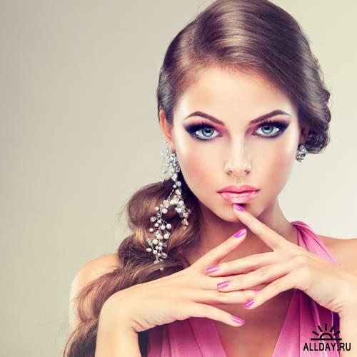 Модная девушка лицо фото