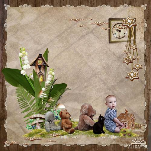 Scrap kit Hansel and Gretel