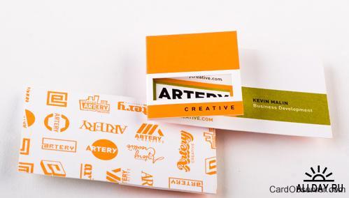 140 оригинальных идей дизайна визиток
