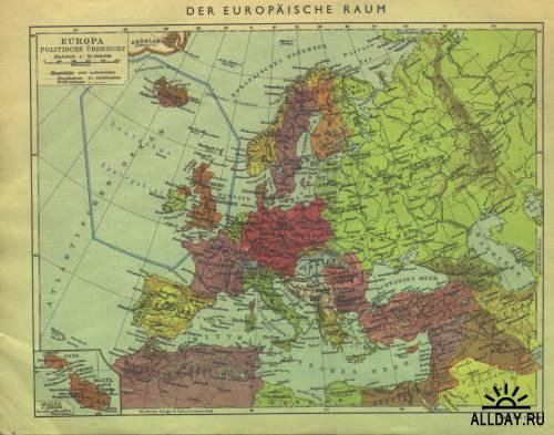 Политический атлас мира. 1941 год.