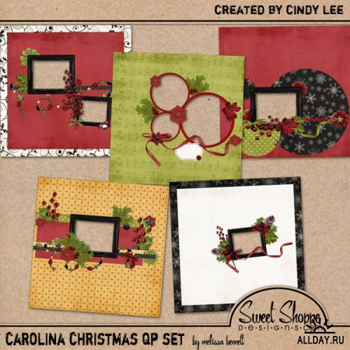 Scrap kit  Carolina  Christmas