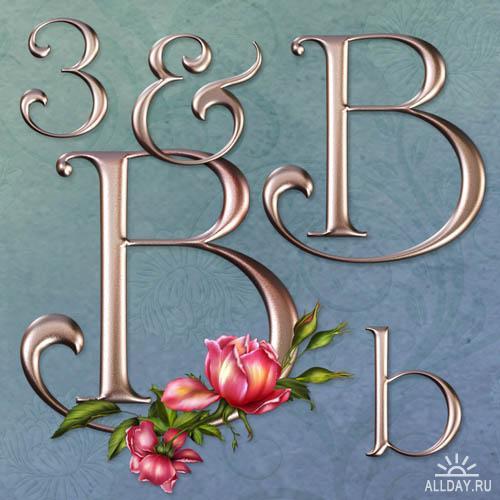 Rose Wedding Decorative Alphabet