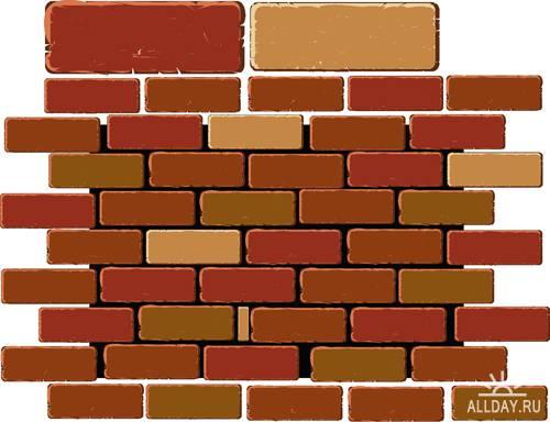 Кирпичная стена - Векторный клипарт | Wall - Stock Vectors