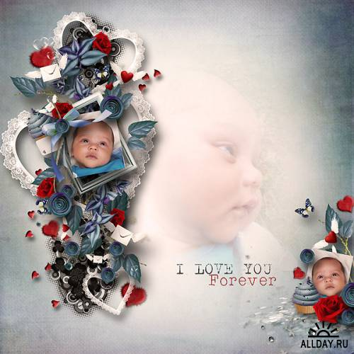 Scrap kit   A lovely day  filled with love