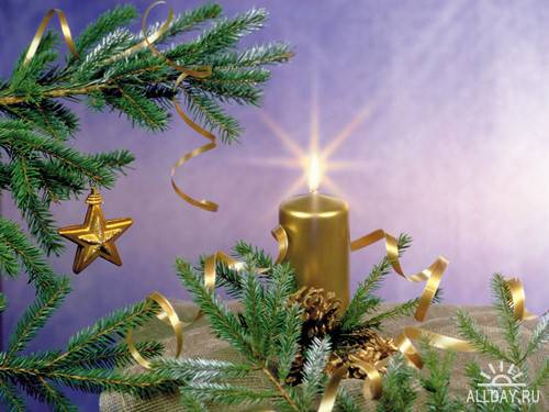 Большой сборник новогодних и рождественских обоев